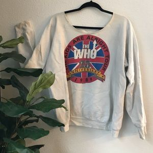 Tops - Authentic THE WHO 1989 tour sweatshirt